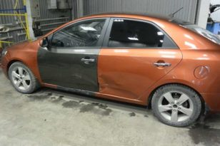 Ремонт и покраска кузова Kia Cerato после ДТП