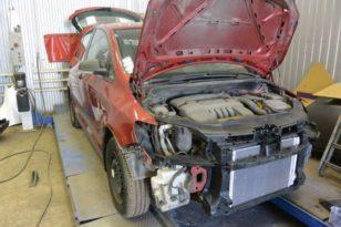 Ремонт кузова и покраска деталей VW Golf Plus