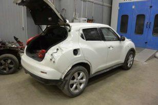 Ремонт и покраска кузова Nissan Juke после ДТП