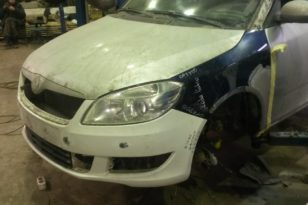 Кузовной и малярный ремонт Skoda Fabia после ДТП