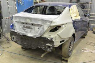 Восстановление Hyundai Solaris после ДТП