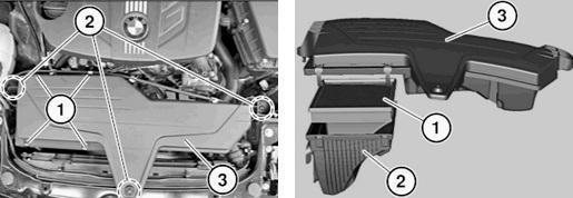 Замена воздушного и салонного фильтра BMW F30 F20